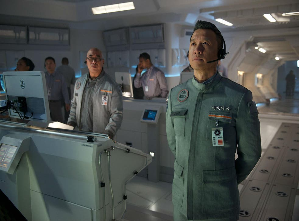Chin Han as Commander Jiang in 'Independence Day: Resurgence'