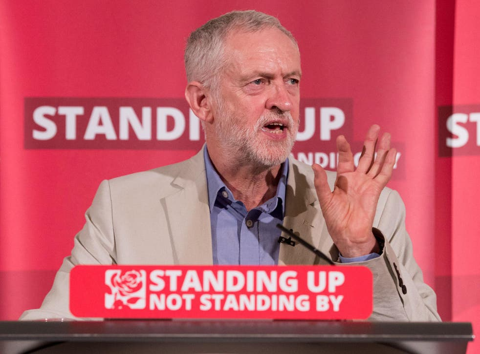 Jeremy Corbyn speaks at a post Brexit speech at the Maxwell Library in central London on June 25, 2016 in London