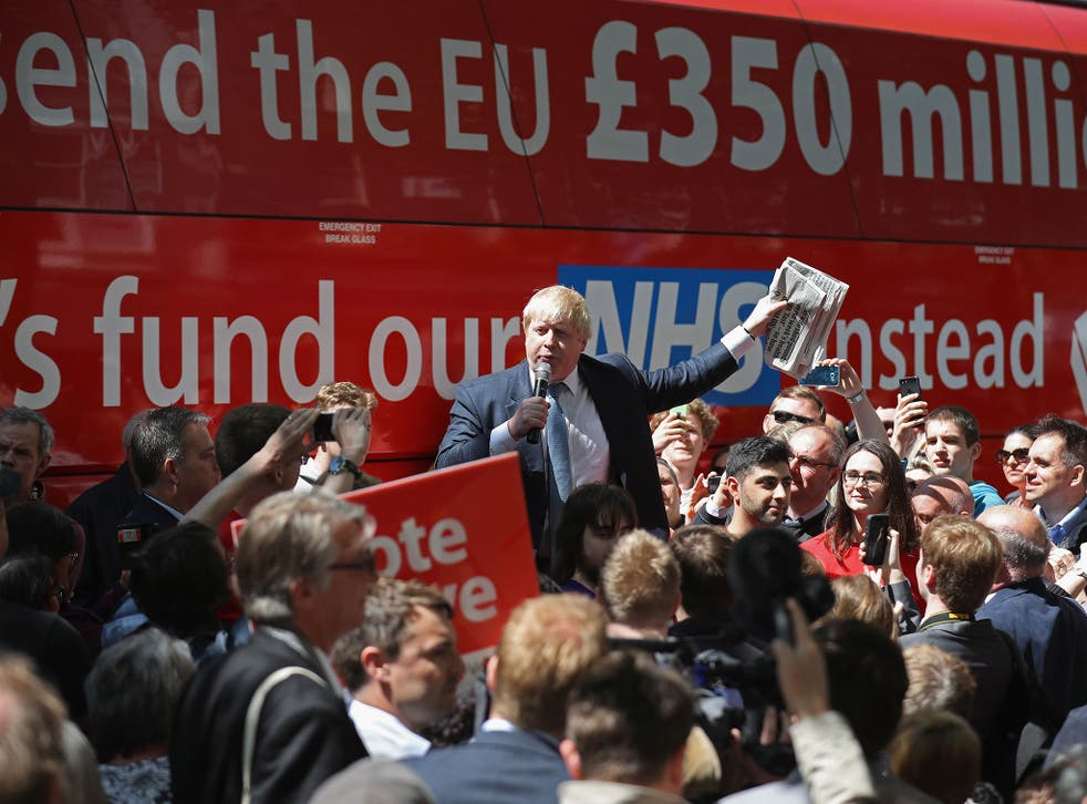 Boris Johnson and the Vote Leave campaign toured the UK in the Brexit Battle Bus before the EU referendum in June