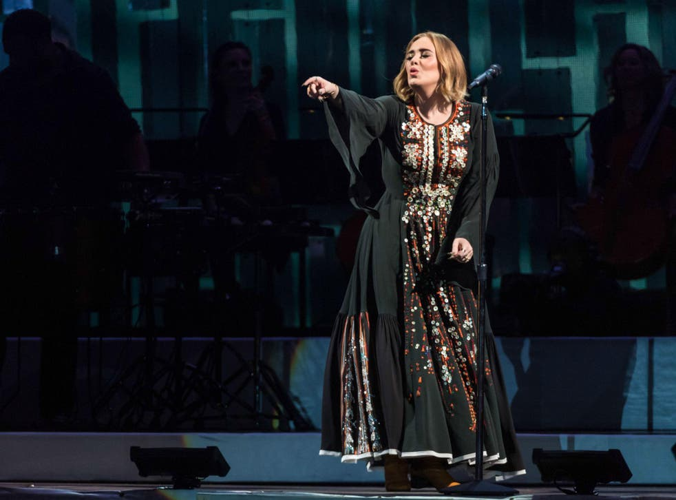 Adele's fans sing her hit songs back at her as she headlines Glastonbury's Pyramid Stage
