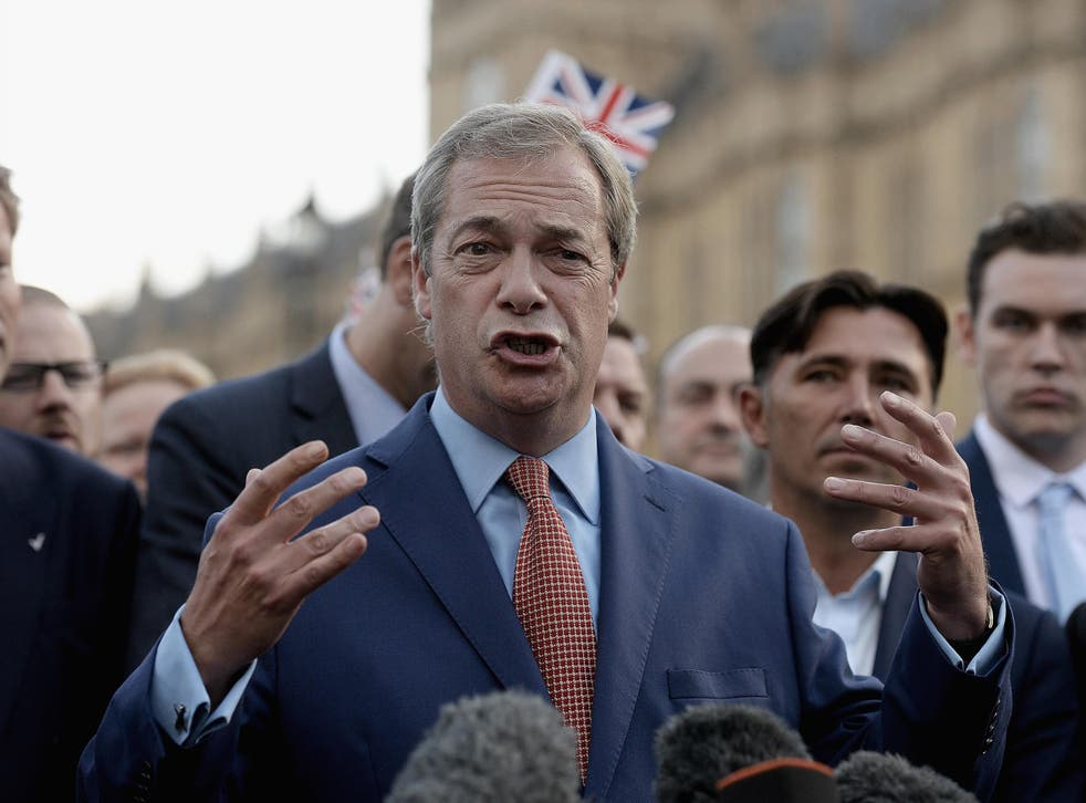 """The UKIP leader has said that it will take two years for the economy to benefit from """"global opportunities"""""""