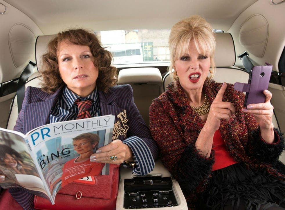 Jennifer Saunders and Joanna Lumley in 'Absolutely Fabulous: The Movie'