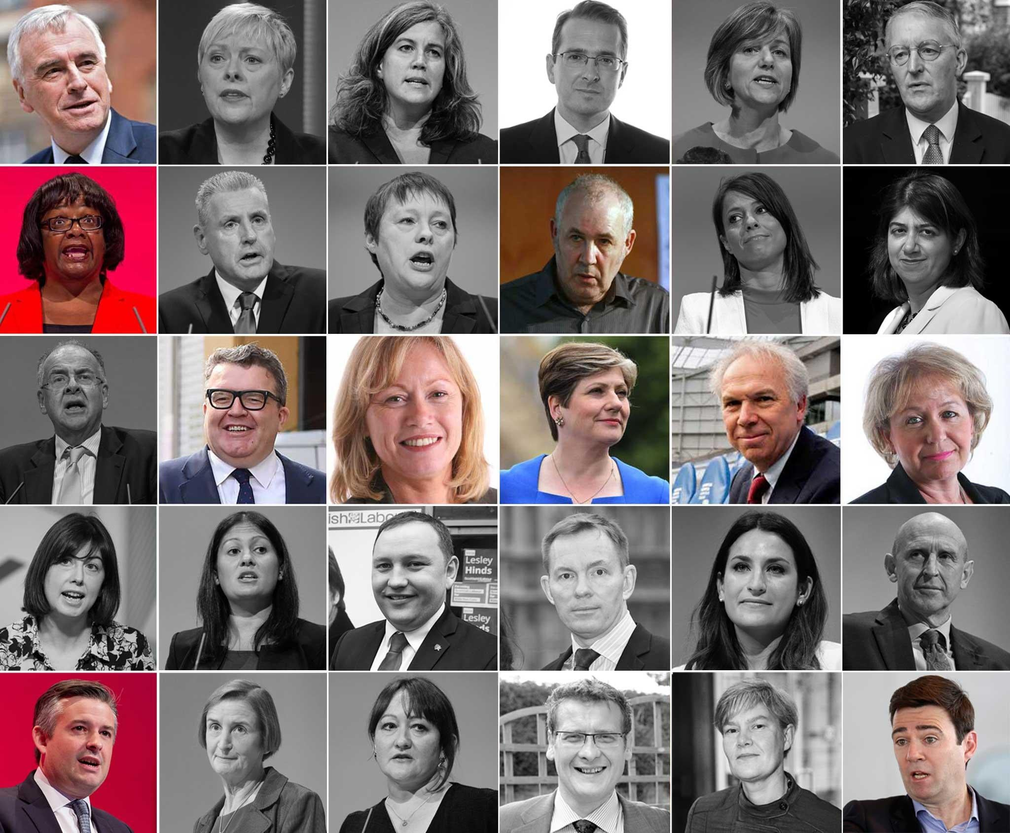 Labour Brexit Revolt Every Shadow Cabinet Minister To