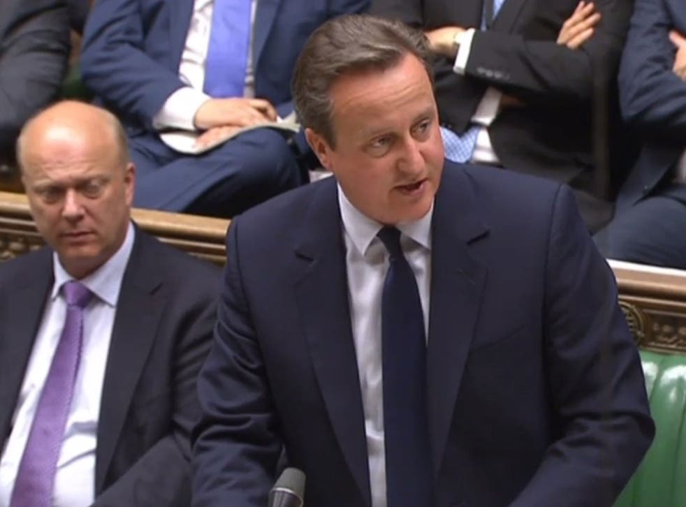 David Cameron giving a statement in Parliament in London on June 27, 2016