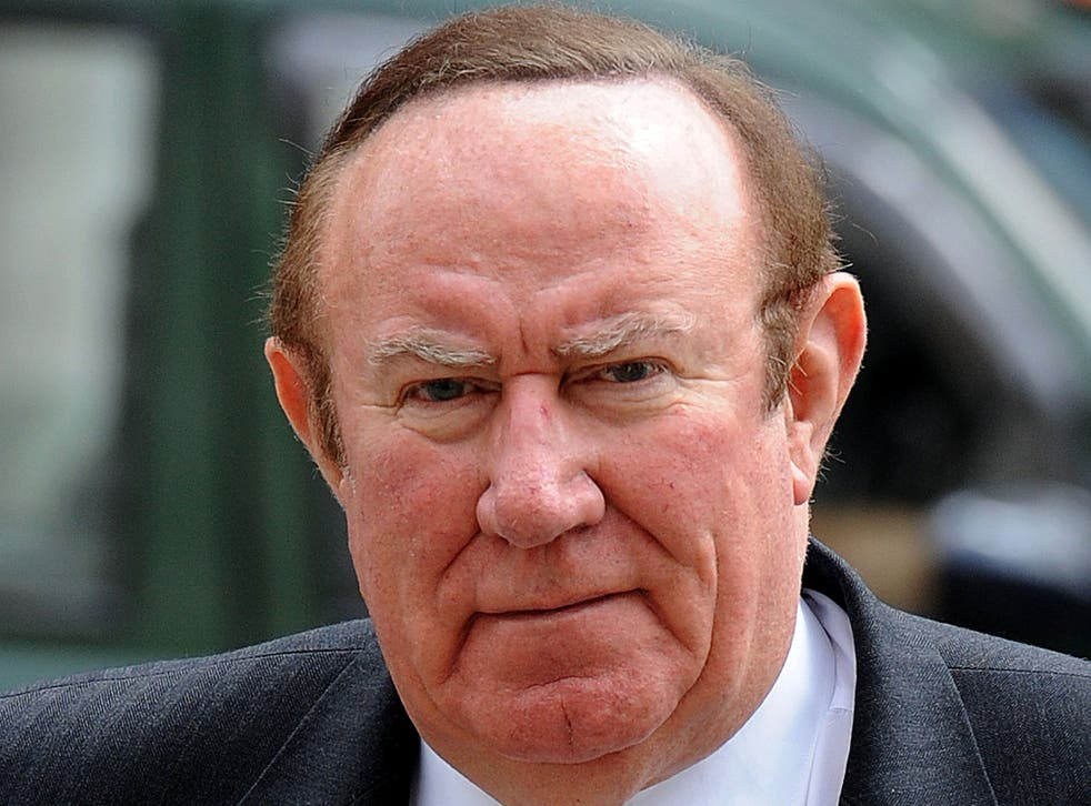 Sunday Politics show presenter Andrew Neil, arrives at the Royal Courts of Justice.