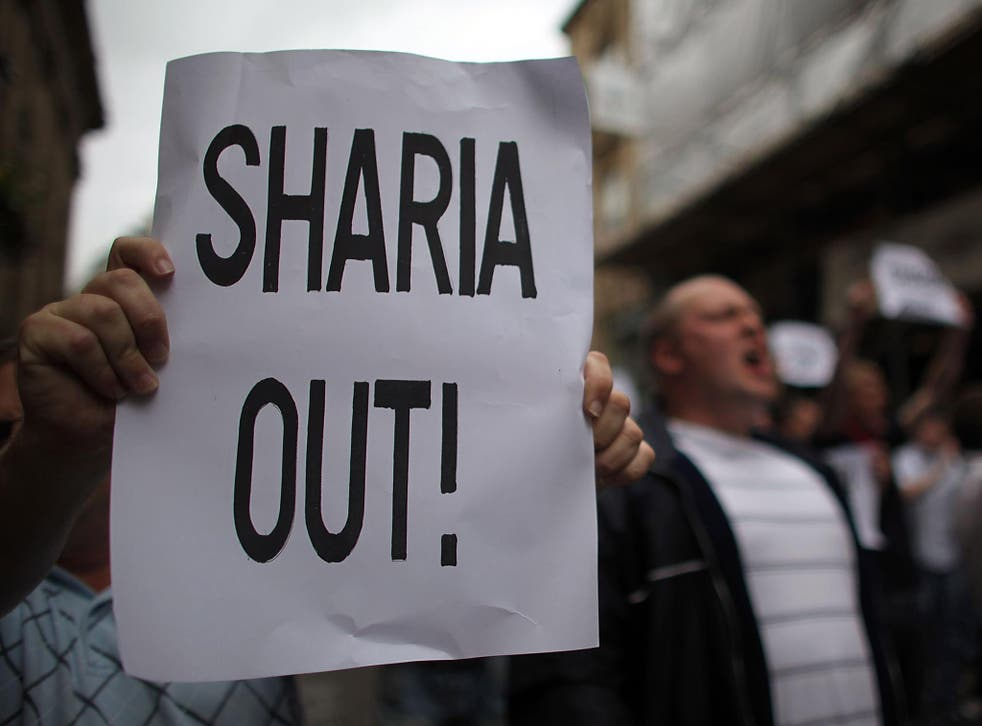 Anti-Islamic protesters in Birmingham in 2009. The study shows the surge in anti-Muslim hatred was happening well before the EU referendum