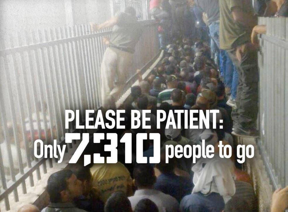 B'Tselem posted an image onto its Facebook account purporting to show a checkpoint in the West Bank
