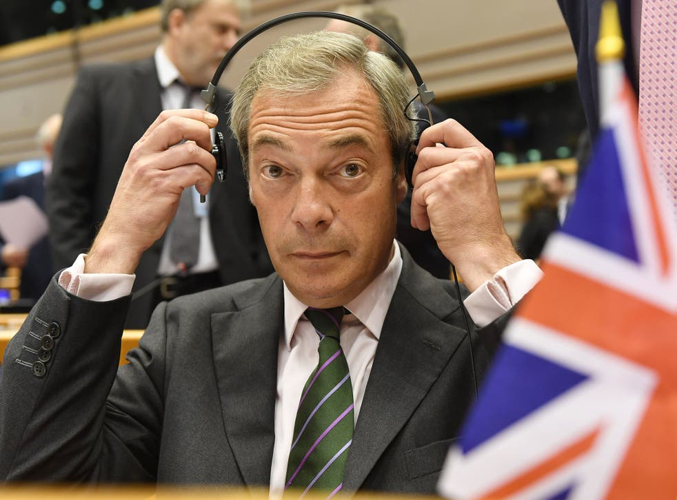 Mr Farage said his problems are 'far bigger' than Mr Trump's