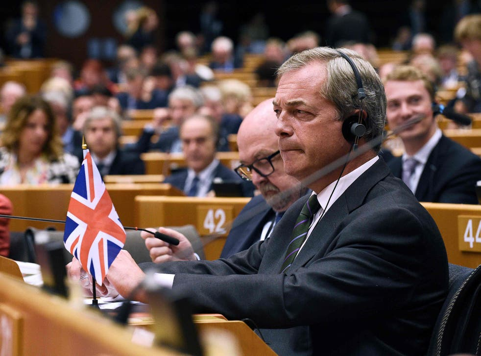 'The greatest democratic exercise of my lifetime' said Mr Farage