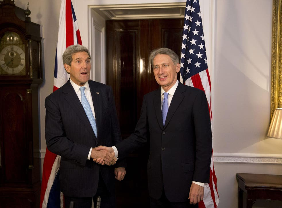 The relationship between the US and the UK, as embodied by Secretary of State John Kerry and Foreign Secretary Philip Hammond, is under threat