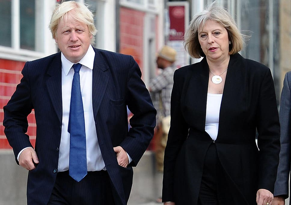 Image result for PHOTOS OF THERESA MAY AND BORIS JOHNSON