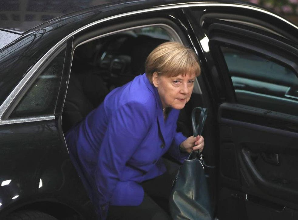 Angela Merkel attends the second day of European Council meetings in Brussels