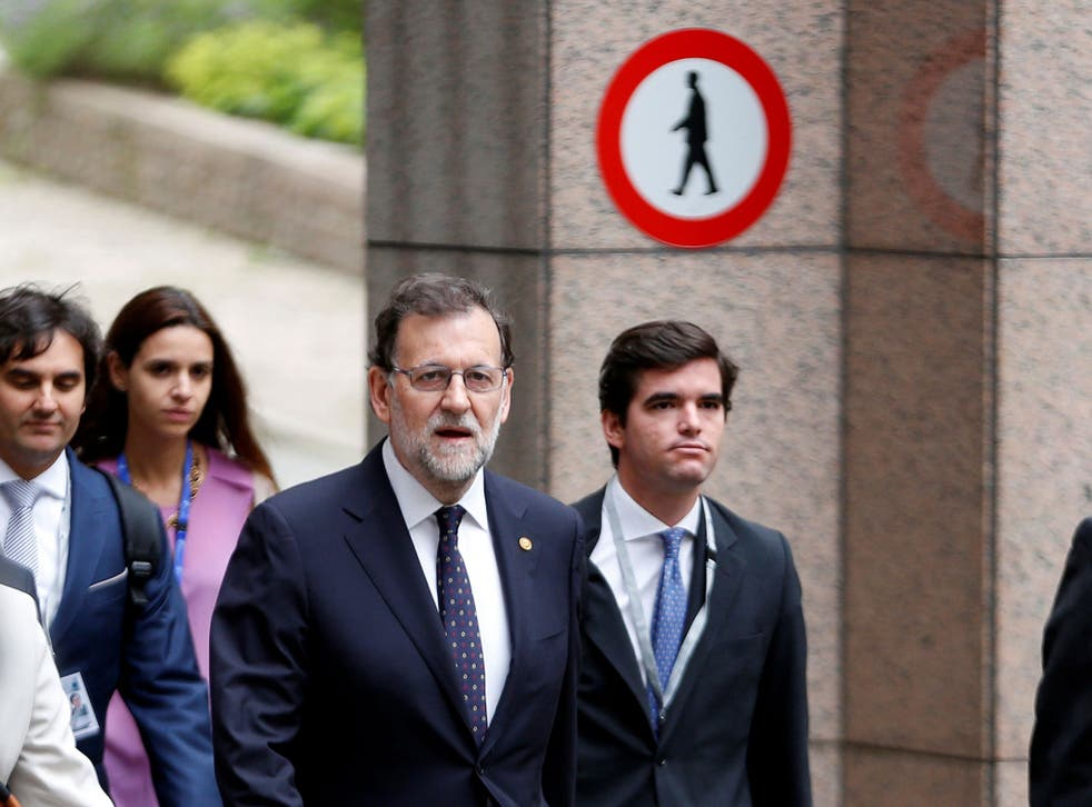 Spain's Prime Minister Mariano Rajoy arrives on the second day of the EU Summit in Brussels, Belgium, June 29, 2016