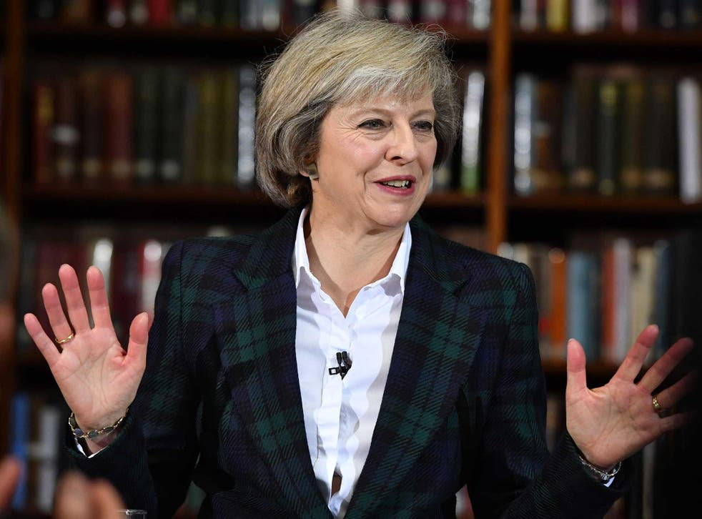 Home Secretary Theresa May speaks as she launches her bid to become the next Conservative party leader