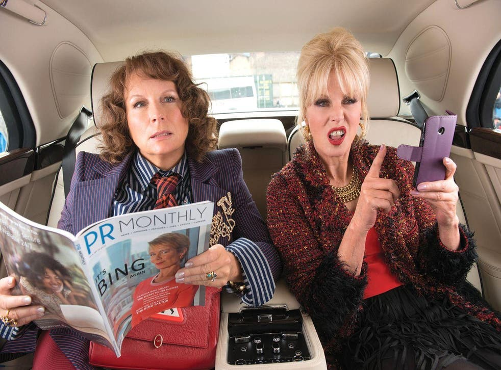 Jennifer Saunders and Joanna Lumley as Eddie and Patsy in Absolutely Fabulous: The Movie