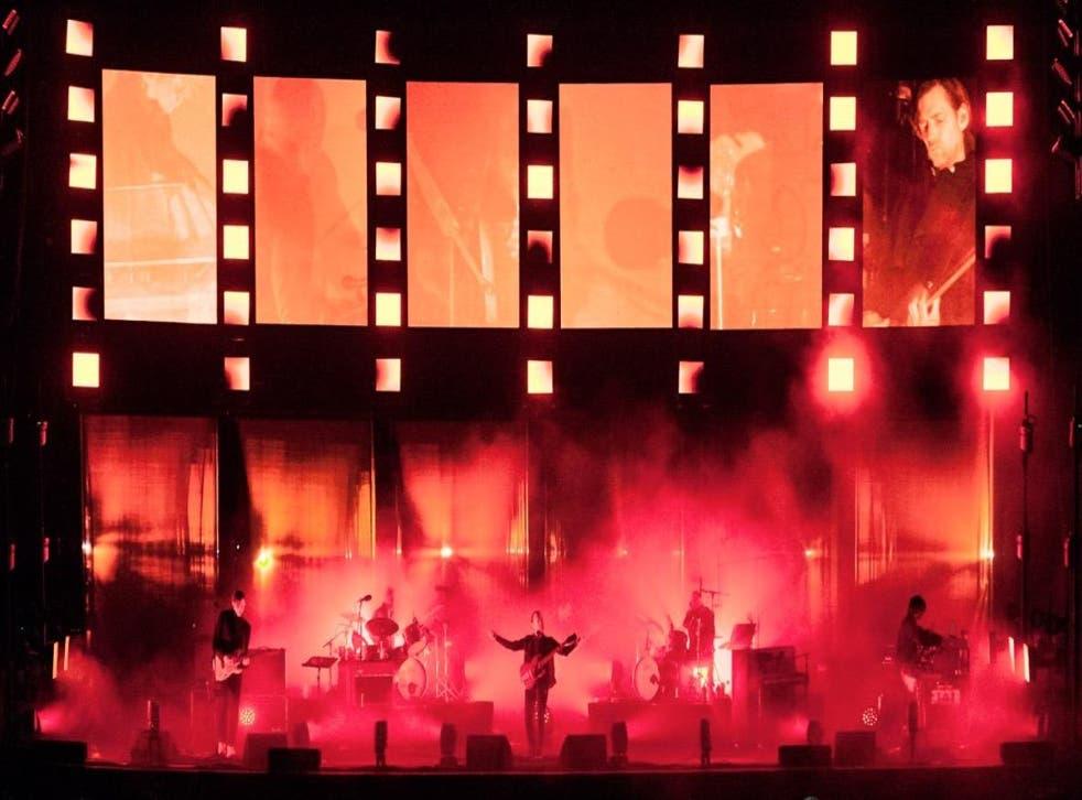 Radiohead playing at Primavera Sound