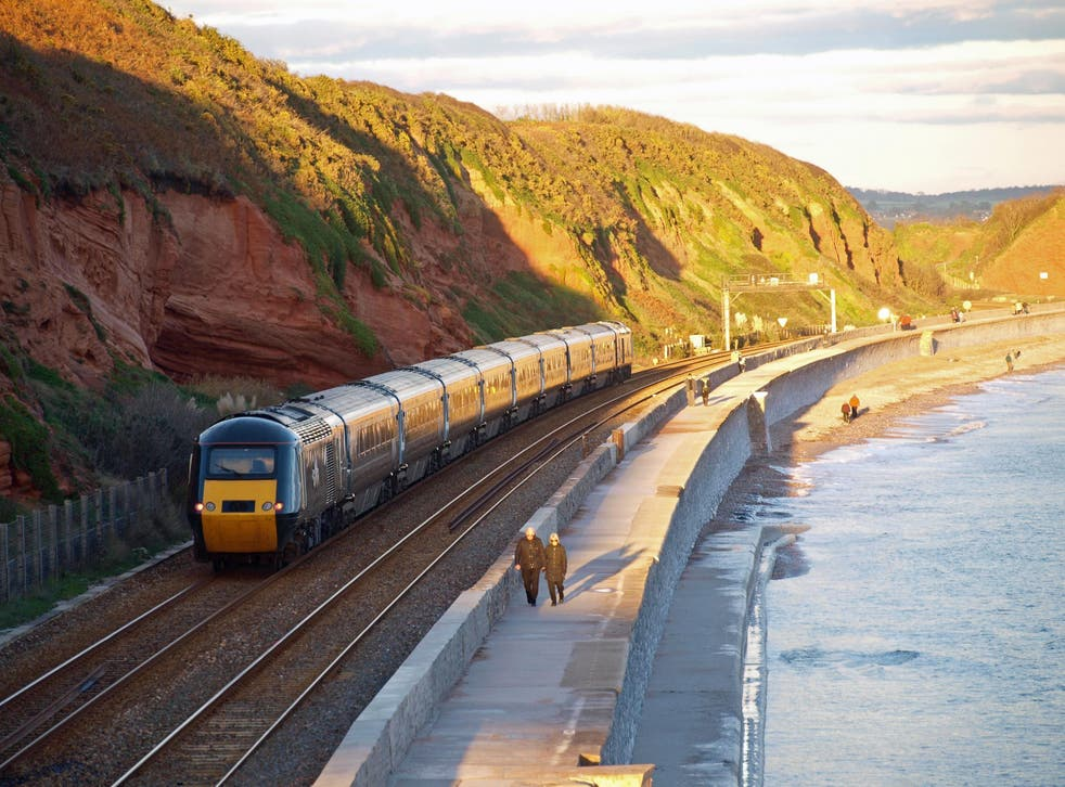 The Great Western Railway clings to the south coast of Devon
