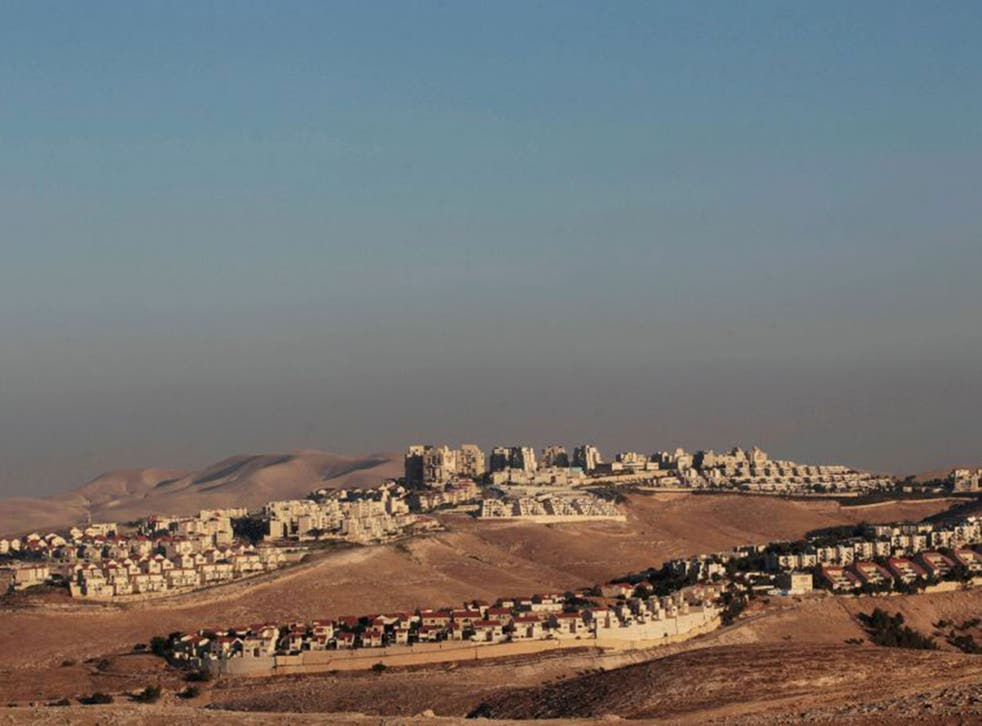 The West Bank Jewish settlement of Maale Adumim