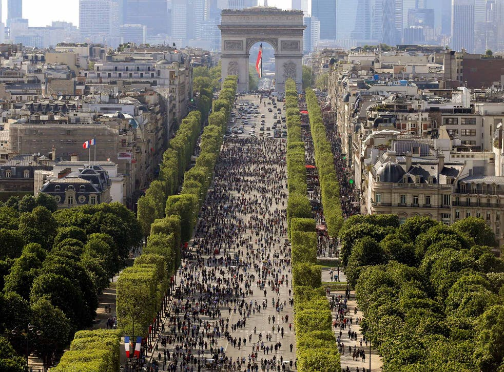 Paris introduced a monthly ban on cars along the Champs-Elysees earlier this year