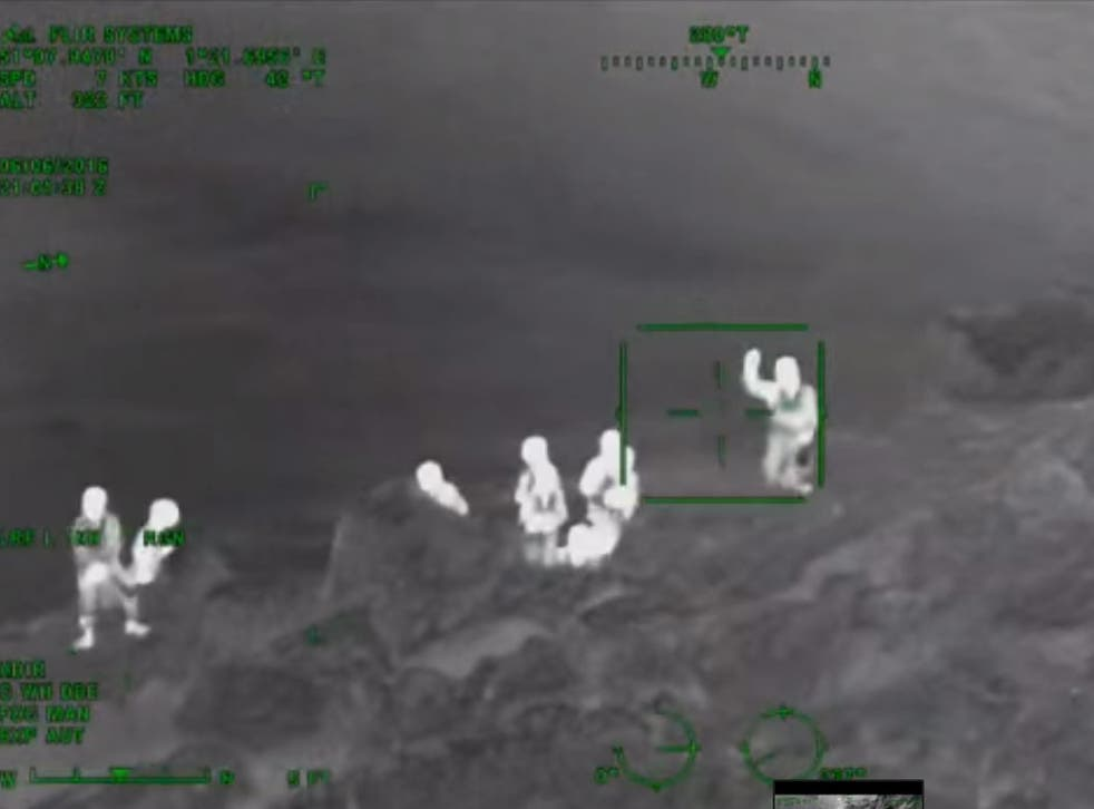 Footage of the rescue near Dover on 6 June from the Maritime and Coastguard Agency