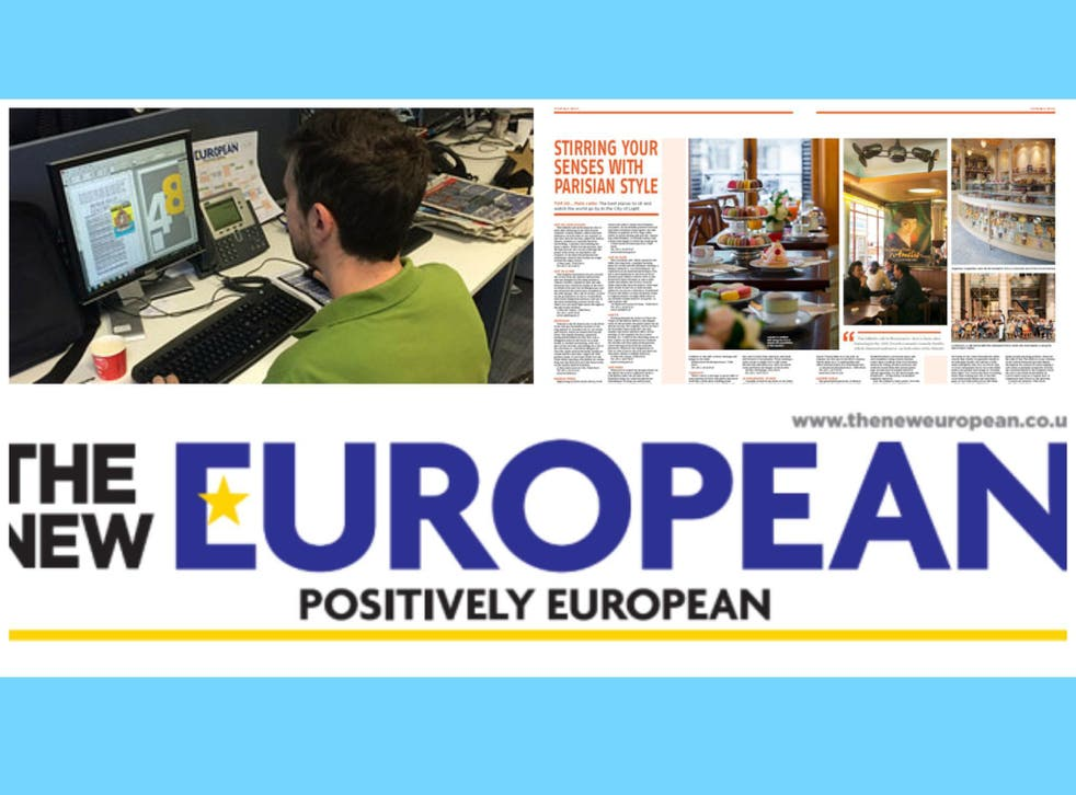 The New European will be the UK's first serious pop up newspaper