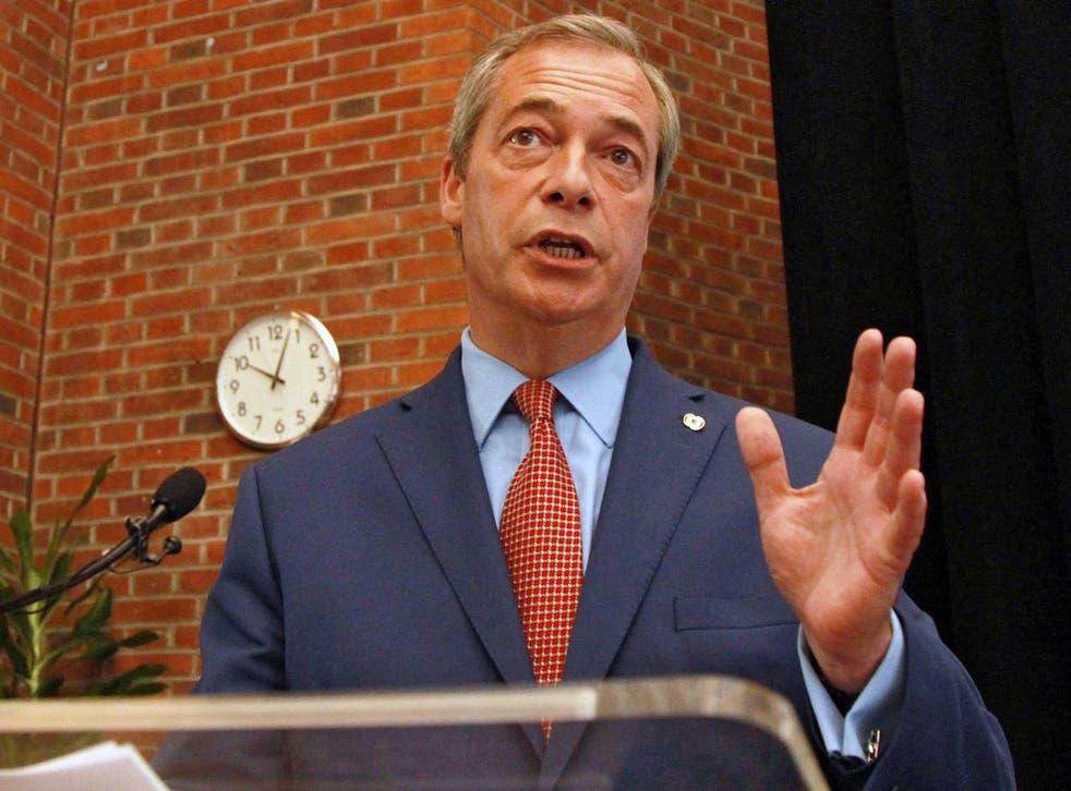 Nigel Farage, who has resigned as leader of Ukip