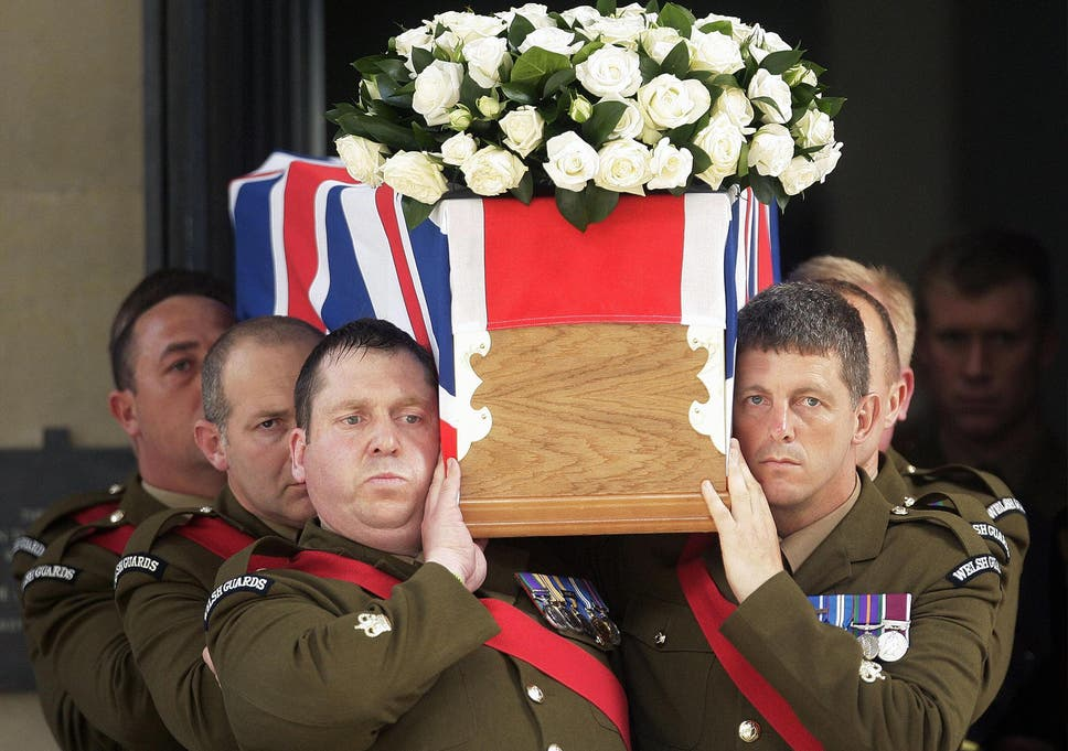 f7c25ae87a6 A coffin bearing the body of Britain s Lieutenant Colonel Rupert Thorneloe