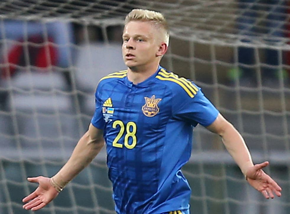 Zinchenko scored his first international goal against Romania in May