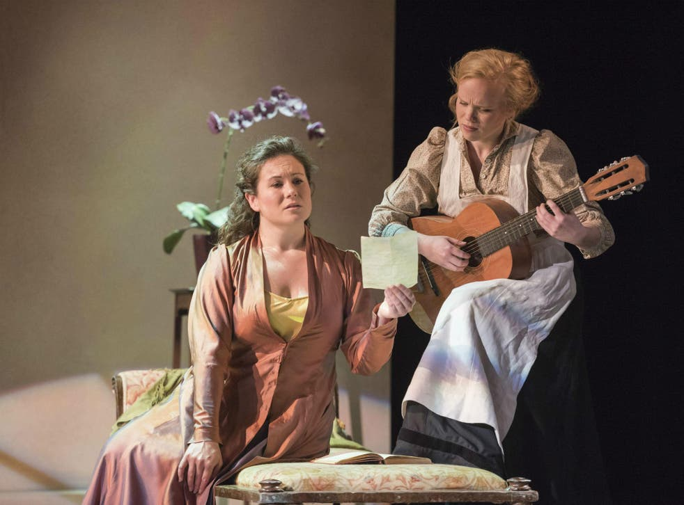 Susanna Fairbairn as the Countess and Beate Mordal as Susanna in The Marriage of Figaro