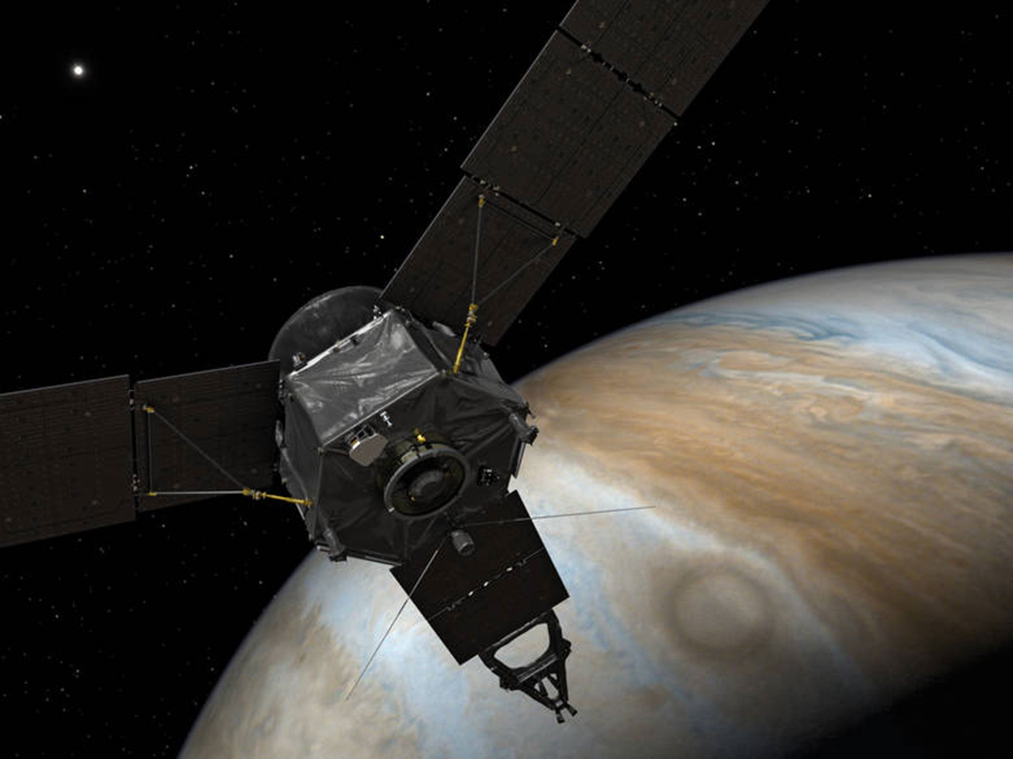 Jupiter space probe Juno arrives at planet after Nasa pulls off ...