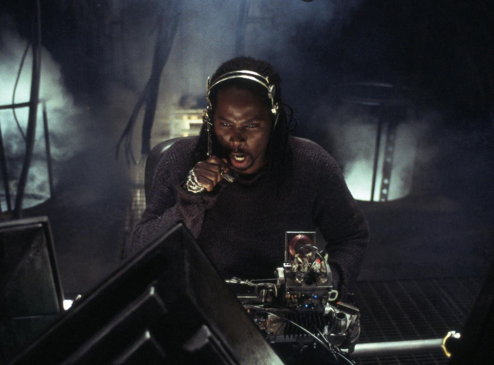 Actor Harold Perrineau in 'The Matrix Revolutions', the final film in a three-part series that made audiences question whether everything was just an illusion