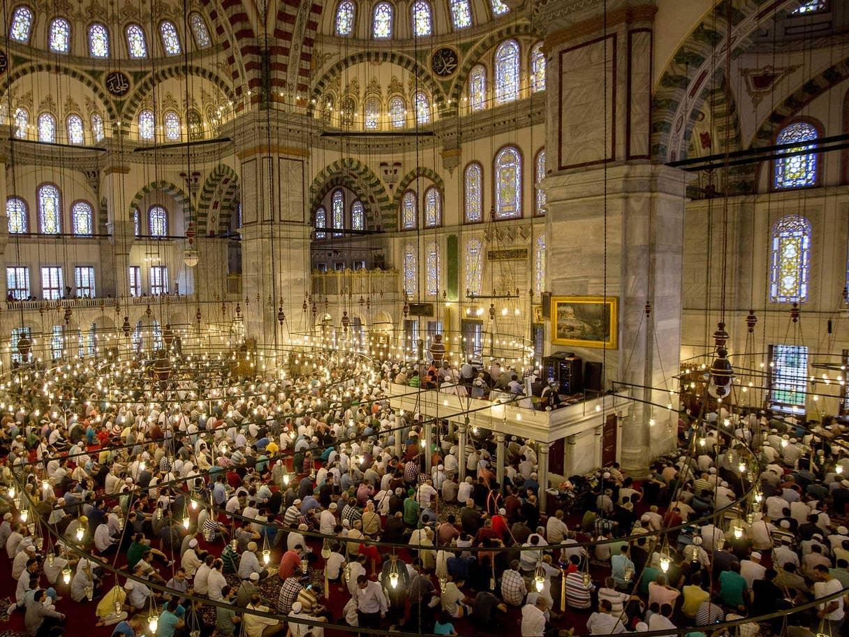 Salat Idul Fitri di Masjid Sultan Fatih di Istanbul