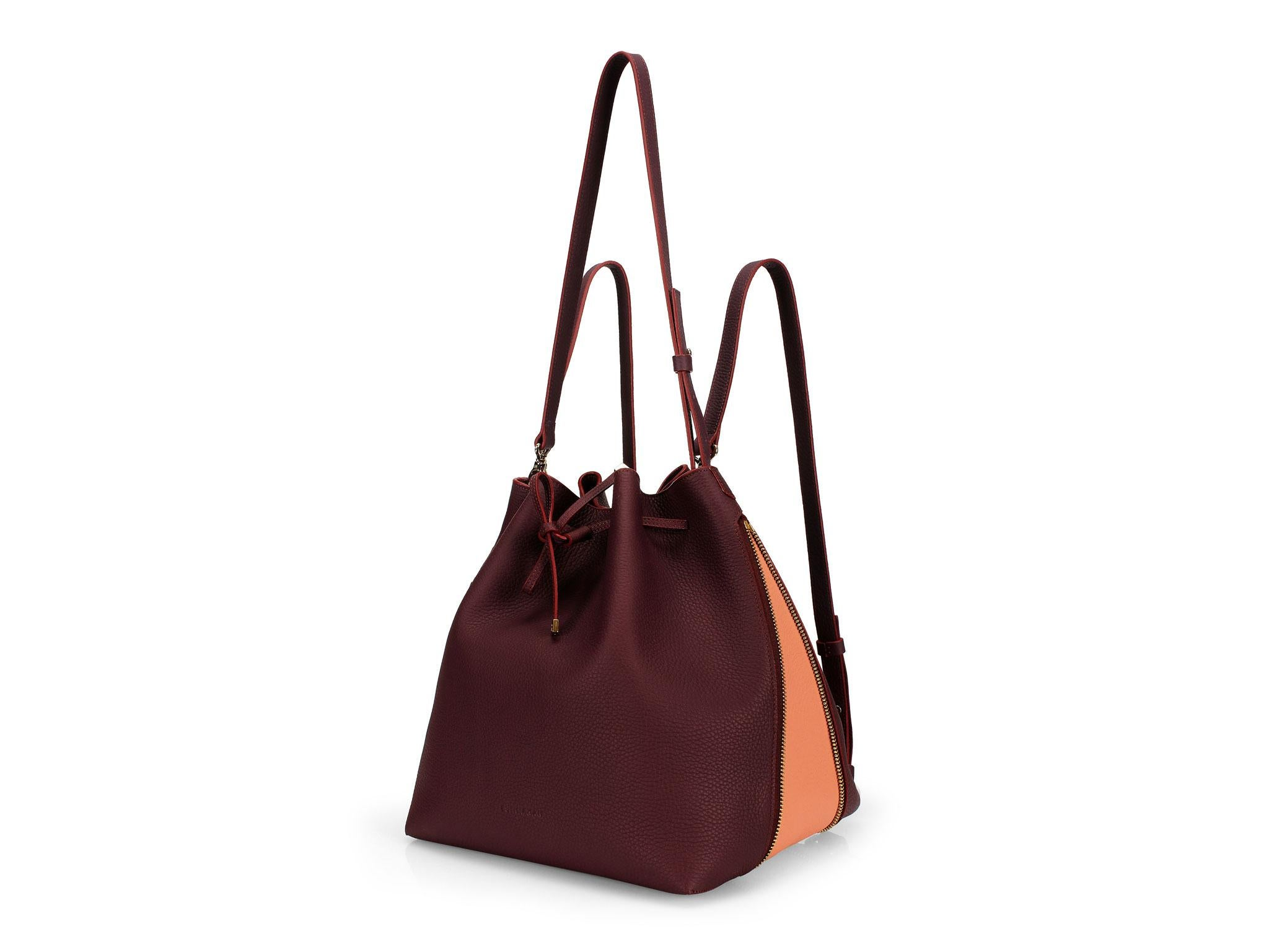 9 Best Bucket Bags The Independent Digital Burgundy Canvas Chocolate Leather Heres