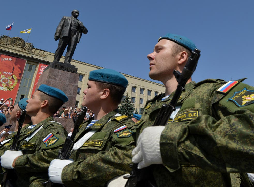 Russia soldiers have been seen assembling at bases near Kaliningrad
