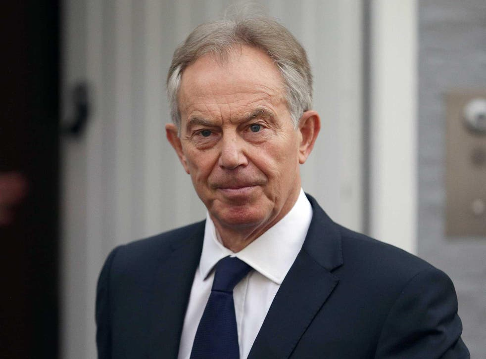 Tony Blair leaves his home in London