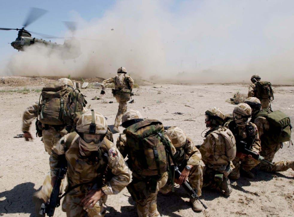 British troops entering Iraq