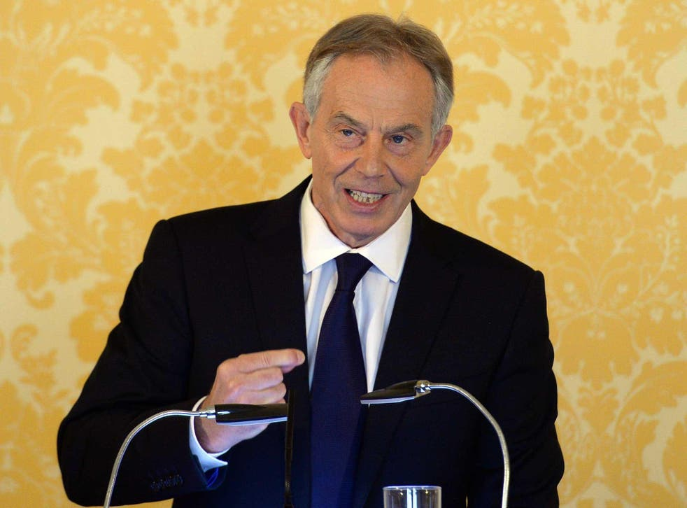 British former Prime Minister Tony Blair holds a press conference at Admiralty House, after retired civil servant John Chilcot presented The Iraq Inquiry Report