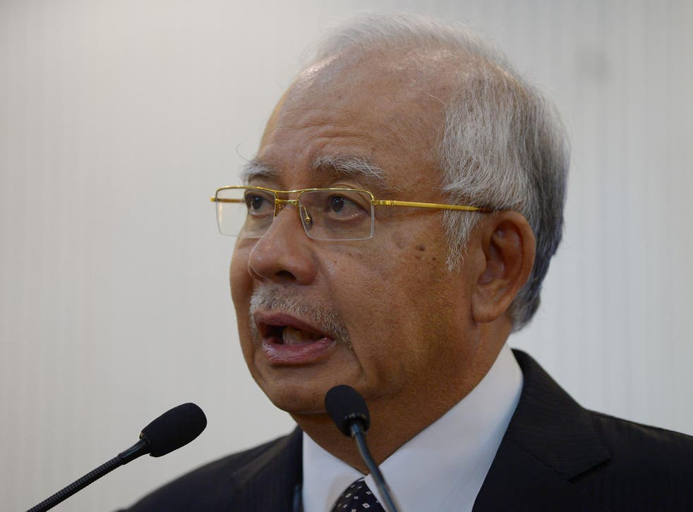 PM Najib Razak called for an investigation into the incident