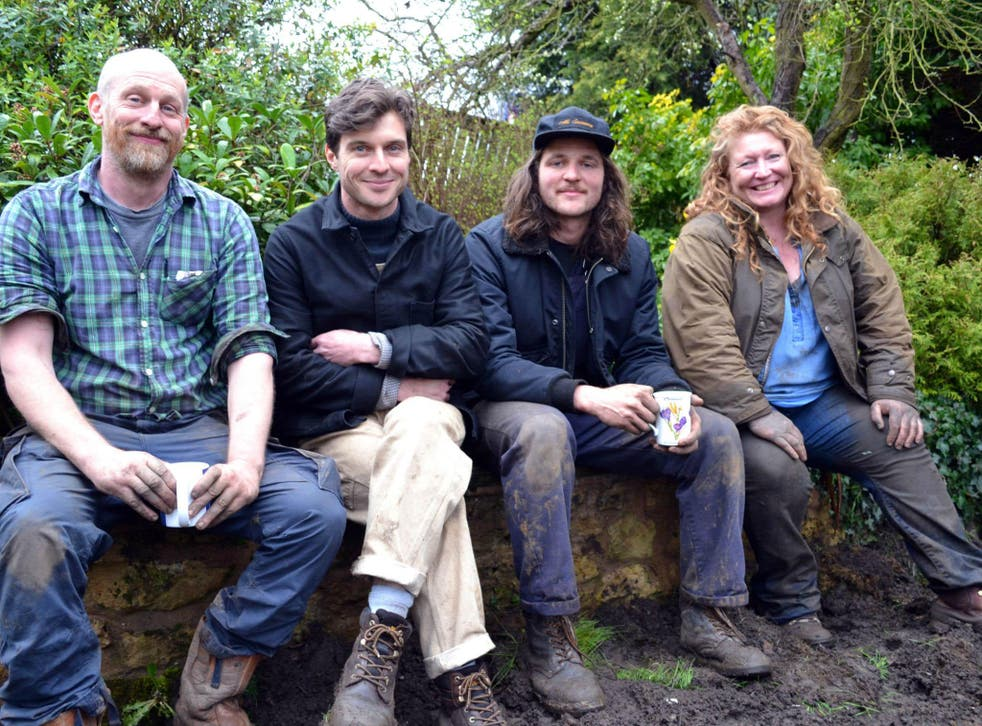 Charlie Dimmock (right) returns with a new team and new gardening challenges