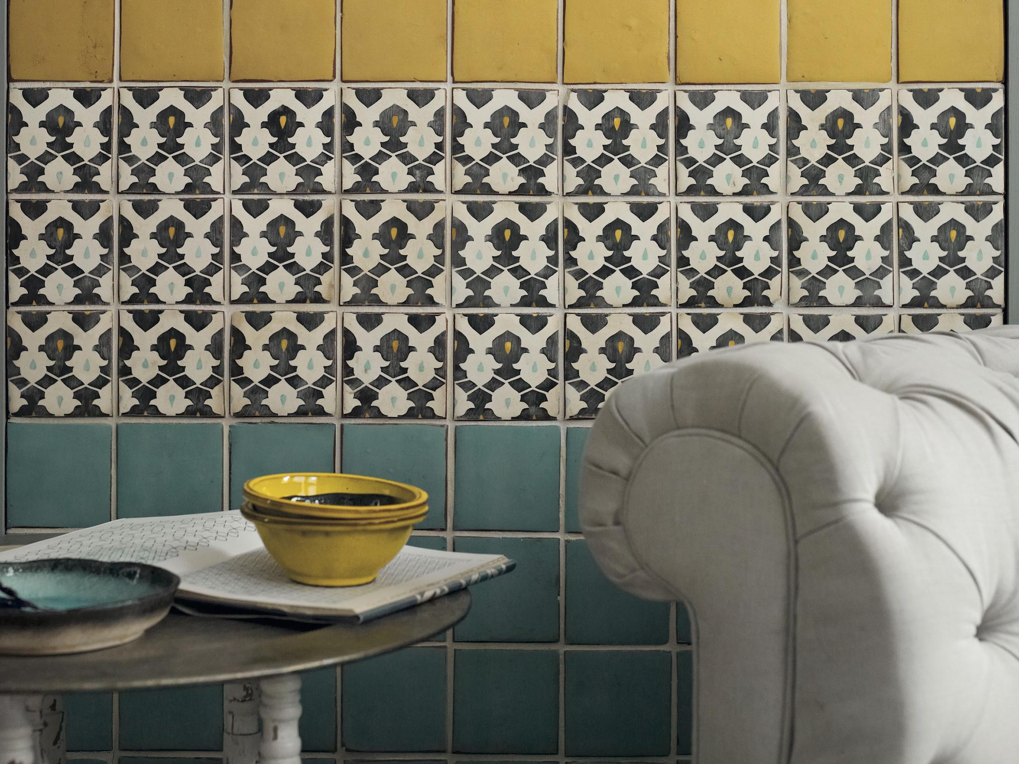 Design trend moorish inspired hand painted tiles the Fired tiles