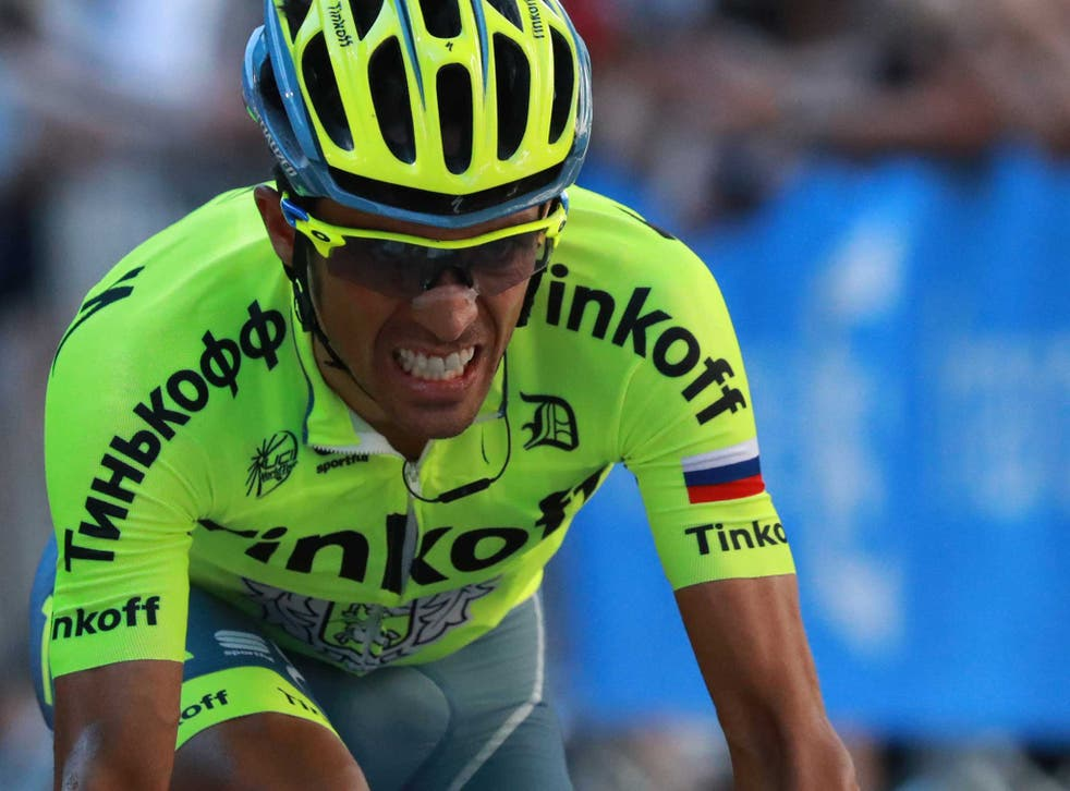 Alberto Contador was forced to pull out at stage nine