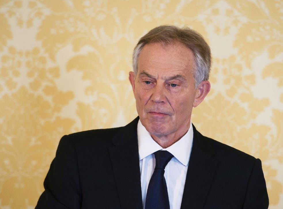Tony Blair, pictured addressing troops in Basra in 2003, faces a parliamentary motion over his 'deceit' in the run-up to the Iraq War