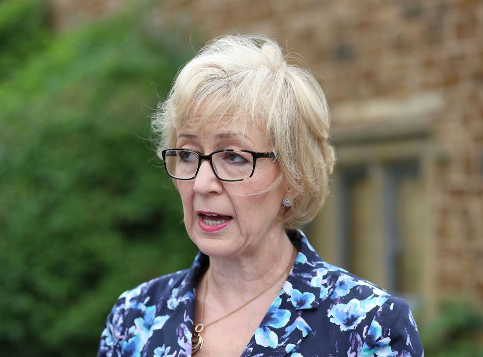 Mrs Leadsom said she had felt 'under attack' since the row over her comments