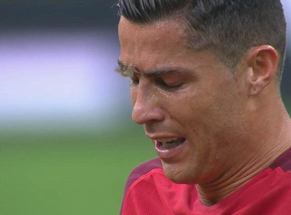 The moment a Silver Y moth landed on Cristiano Ronaldo's face