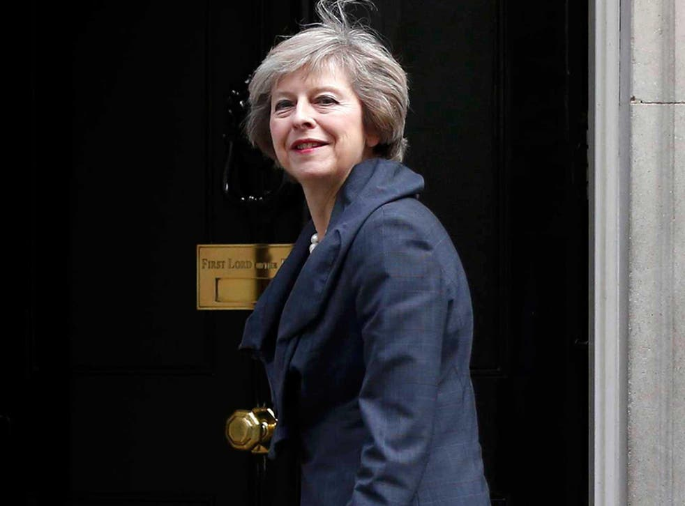 Theresa May, who is due to take over as prime minister, arrives for a cabinet meeting at number 10 Downing Street