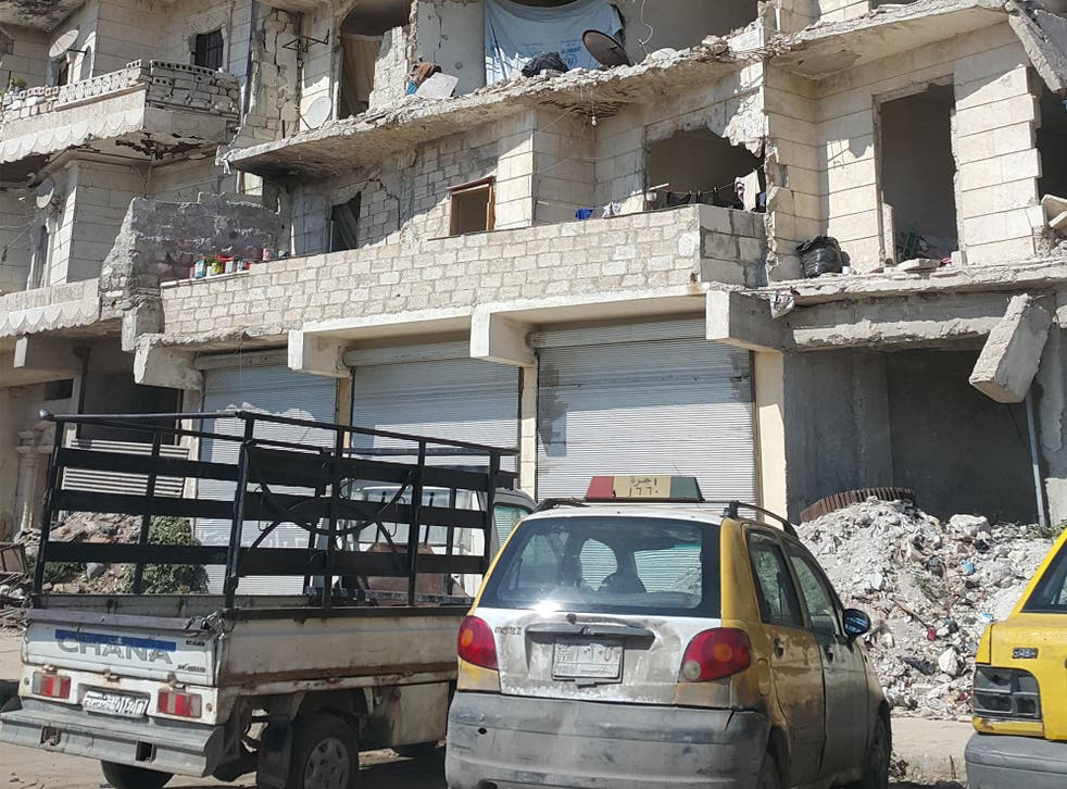 In Aleppo, parking beside the rubble of the city is as normal as the daily rumble of shells