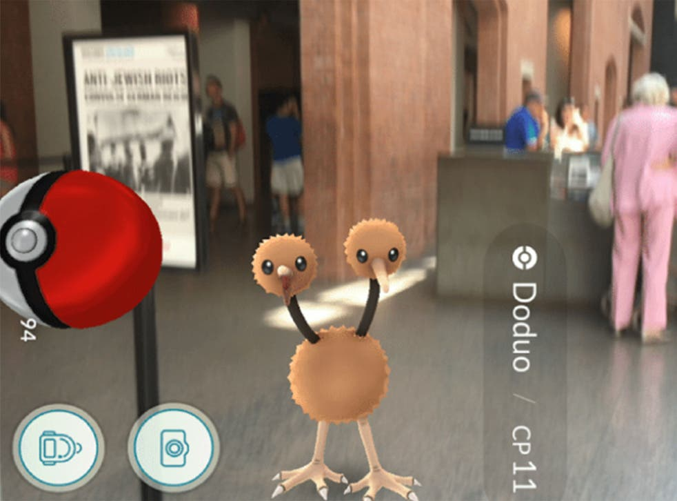 A Doduo found in the Holocaust Museum on Pokémon Go