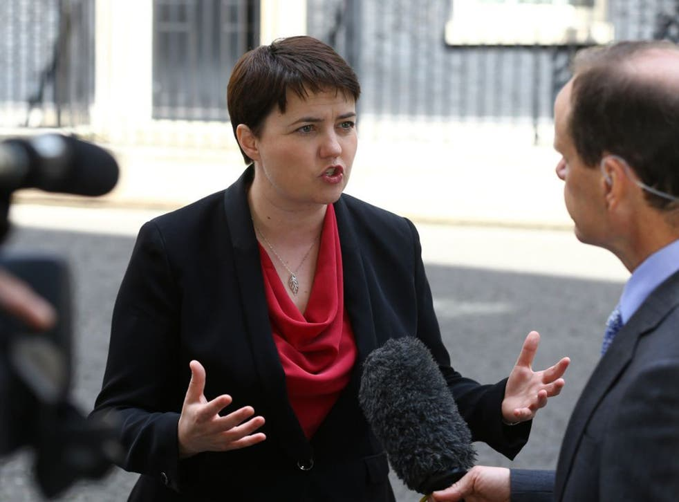 Ruth Davidson said the state visit was supposed to celebrate the shared values of the two nations