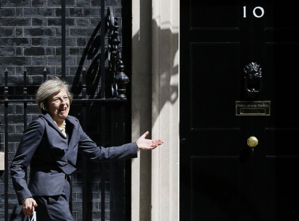 Theresa May attending a Cabinet meeting at Downing Street yesterday