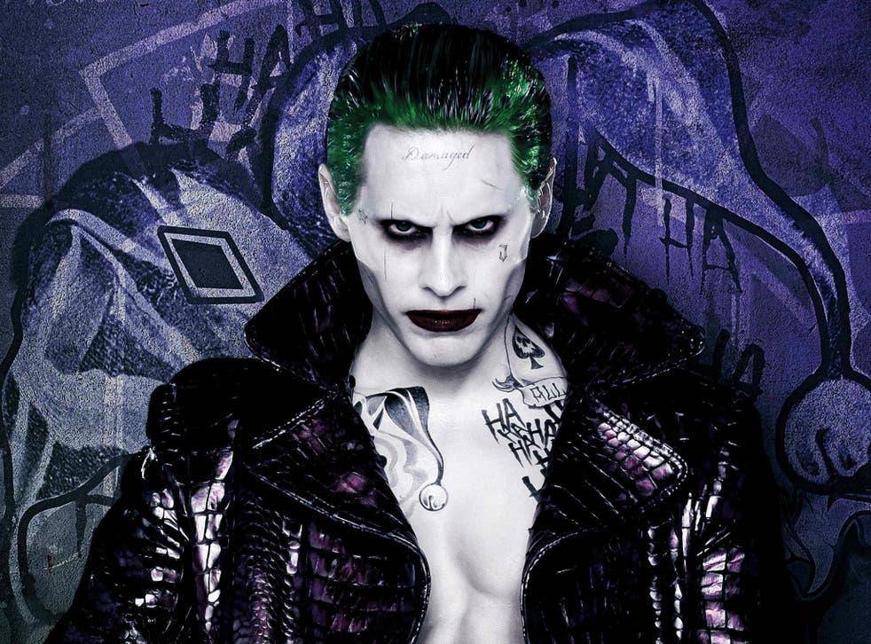 Jared Leto as iconic psychotic comic book villain the Joker